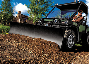 Follow link to Gator™ Utility Vehicle Attachments & Implements online brochure.